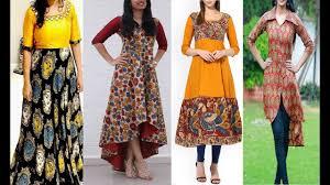 Kalamkari Churidar Neck Designs For Stitching Top 50 Kalamkari Kurtis Designs Kalamkari Churidar Kalamkari Dress Kalamkari Anarkali