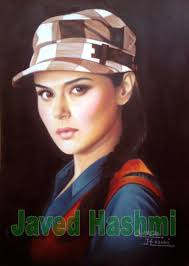 preity zinta oil painting bollywood actress painting 12x8 25 in