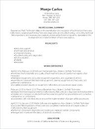Help Desk Technician Resume It Technician Resume Mechanic Technician Cv Examples Simple Resume