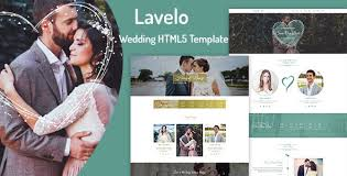 Wedding Website Template Amazing HTML Wedding Website Templates From ThemeForest