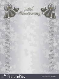 well known 25th wedding anniversary invitation silver bells stock uo48