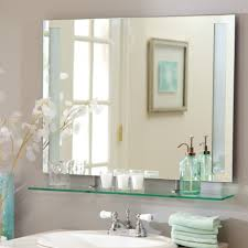 Frameless Bathroom Mirror Interior Frameless Bathroom Mirror Frameless Full Length Mirror