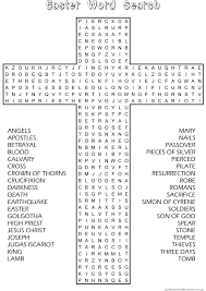 Small Picture Easter Word Search Sunday School Activity website has good