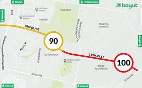 Revised Rta Dubai Speed Limit For Major Roads Mybayut