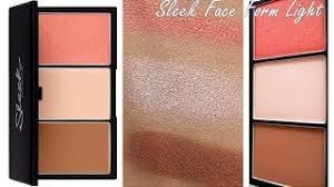 sleek face form light palette review