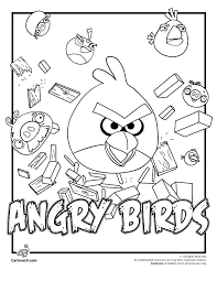 Top 20 free printable cat coloring pages. Angry Birds Coloring Pages Woo Jr Kids Activities