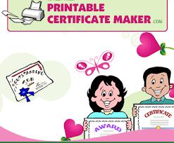 Printable Certificate Maker Create Free Award Certificates