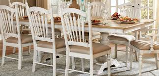 Homelegance Hollyhock Trestle Pedestal Dining Set Distressed - Distressed dining room table and chairs