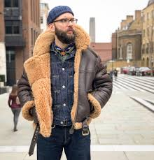 blue blooded instagrammer illcutz denimhunters shearling leather jacket