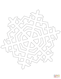 Six Pointed Crystal Snowflake coloring page   Free Printable ...