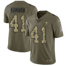 To Jersey Football Orleans 2017 camo - 41 Kamara Limited Men's Service Salute Olive Saints New Alvin