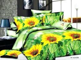 sunflower bedding set sunflower bedding set fl green queen size double quilt duvet cover cotton bed