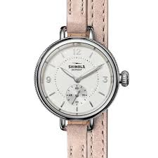 las shinola the birdy white dial double wrap leather strap watch s0120161495 reeds jewelers