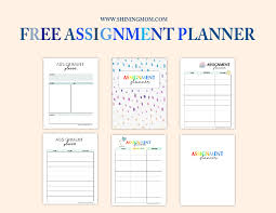 Student Assignment Planner Printable Free Assignment Planner For Kids And Teens Fun And Cute