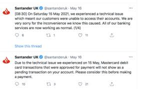 I now have a late credit card payment notification on my profile right as im about to go through the. Uk Fos Offers Help To Santander Clients Affected By Recent It Issues Fx News Group