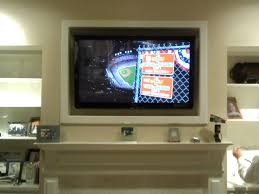Wall Mounted Tv Frame A Recessed Tv Wall With A Stikwood Accent So Neat Oe120iw