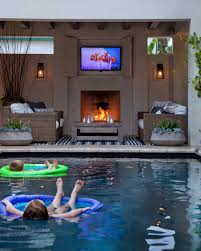 patio with square pool. (Small Square Pool For Night Dips?) Search Viewer   HGTV More Patio With