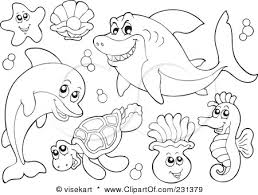 Small Picture Pretentious Idea Ocean Animal Coloring Pages Free Printable Ocean
