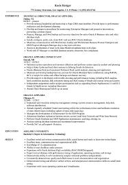 Oracle Apps Dba Resume Samples Velvet Jobs