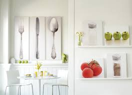 wondrous knife spoon and fork pictures as kitchen wall decor in modern interior kitchen designs