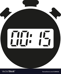 Timer 15 The 15 Seconds Minutes Stopwatch Icon Clock And