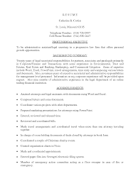 Executive Assistant Resume Samples Free Best Of Attorney Assistant Resume Fabulous Legal Administrative Assistant