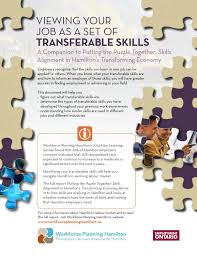 workforce planning hamilton viewing your job as a set of transferable skills