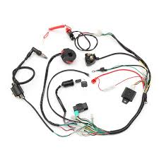 wiring looms for quad promotion shop for promotional wiring looms cdi engine start harness set wiring harness loom solenoid coil rectifier for 50 70 90 110 125cc quad dirt bike atv go kart
