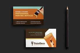 Business Card Indesign Template Classy 14 Painter Business