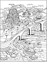 18lovely landscape coloring book more image ideas