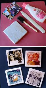 transfer pictures to tiles with nail polish remover they make for awesome coasters and