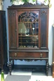 china cabinet antique kitchen hutch with glass doors full size