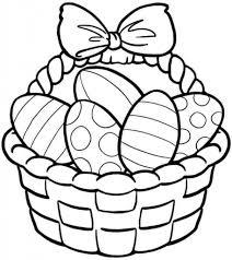 Coloring Pages For Easter Basket L L L L L L L L L L
