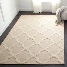 light pink rug handmade and ivory wool 5x7 light pink rug