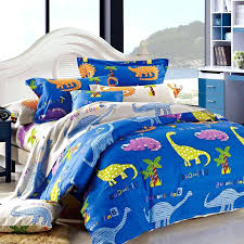dinosaur comforter royal blue yellow purple and orange dinosaur animal print jungle safari themed damask twin