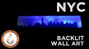 picture of new york city skyline led wall art on diy backlit pallet wall art with new york city skyline led wall art 7 steps with pictures