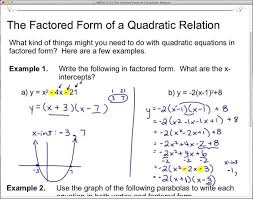 standard to factored form jetxs definition math quadratic equ