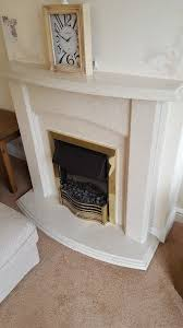 fireplace with electric fire