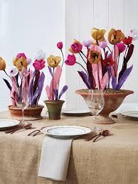 Paper Flower Arrangements Make A Paper Flower Centerpiece Hgtv