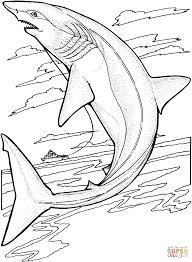 Lemon Shark Jumps Out Of The Water Coloring Page Free Printable