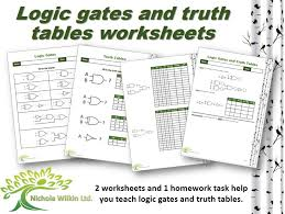 Logic gates and truth tables worksheet pack (GCSE Computer Science ...