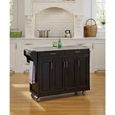 Home Styles Dolly Madison Black Kitchen Cart With Storage-4528-95 ...