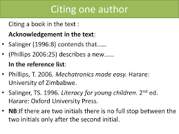 Referencing And Citation Ppt Download