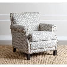 abbyson living chloe grey pattern club chair chairs living room