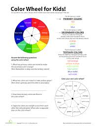 Color Wheel Chart For Kids Templates At