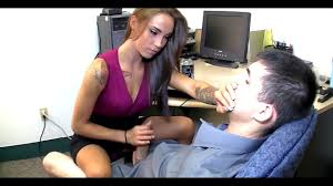 Hand job at the office