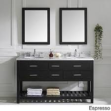 60 inch bathroom vanity mirror. metro shop virtu usa caroline estate round double sink bathroom vanity with italian carrara white marble 60 inch mirror i