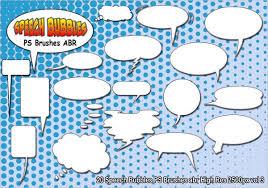 Photoshop Speech Bubble Speech Bubble Brushes 7 Paint Photoshop Brushes Abr