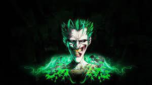 Joker Neon Wallpaper 4k