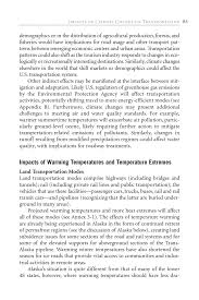 impacts of climate change on transportation potential impacts  page 85